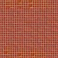 Red ceramic mosaic seamless tileable texture dark Stock Photo