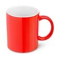 Red ceramic mug Royalty Free Stock Photo