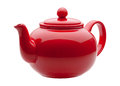 Red Ceramic Teapot Royalty Free Stock Photo