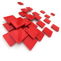 Red ceramic tiles Stock Photos