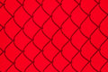 Red Chainlink Fence Shadow Royalty Free Stock Photo