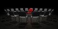Red Chair in the center of attention Royalty Free Stock Photo