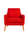 Picture : Red chair white photo
