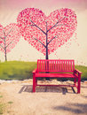 Red chair in vintage style Royalty Free Stock Photos