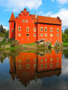 The red chateau cervena lhota in southern bohemia czech republic eu famous attraction for many tourist and also beautiful place Stock Image