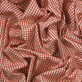 Red check cloth folded gingham fabric table Stock Photo