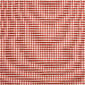 Red check cloth gingham fabric table Stock Photos