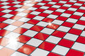 Red checker board Royalty Free Stock Image