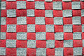 Red checkered background. Royalty Free Stock Photo