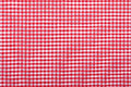Red checkered fabric Royalty Free Stock Photo