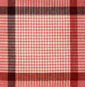 Red checkered fabric Stock Images