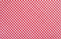 Red checkered fabric closeup tablecloth texture Stock Photos