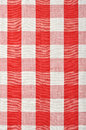 Red checkered fabric closeup tablecloth texture Royalty Free Stock Photography