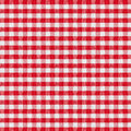 Red checkered fabric tablecloth high resolution Stock Photos