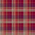 Red checkered seamless pattern repeat design Royalty Free Stock Image