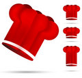 Red chef hat Stock Photo