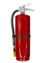 Red chemical fire extinguishers isolated Royalty Free Stock Photo