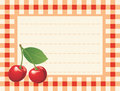 Red cherry on chequered background Royalty Free Stock Photos