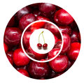 Red cherry fruits fresh background collage Stock Photo