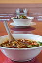 Red chili oil soup Stock Photography
