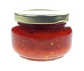 Red Chili Paste Jar Royalty Free Stock Photo