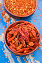 Red chili pepper with paprika Stock Photography