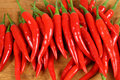 Red chilli peppers. Royalty Free Stock Images