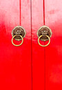 Red chinese door Royalty Free Stock Photo