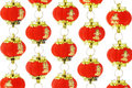 Red Chinese lantern ornaments Royalty Free Stock Photo