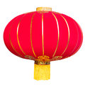 Red Chinese Lantern on white Background. Stock Images