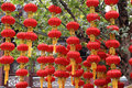 Red Chinese paper lantern Stock Photography