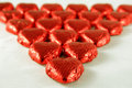 Red Chocolate Hearts Royalty Free Stock Photo