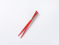 Red chopsticks Royalty Free Stock Photo