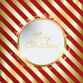Red Christmas background with Golden stripes eps10 Royalty Free Stock Photo