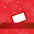 Red christmas background with greeting card cover for messages of congratulations Stock Photography