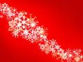 Red Christmas background with snowflakes Royalty Free Stock Photos