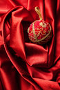 Red Christmas Ball With Gold P...