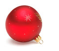 Red christmas ball tree decoration isolated on white backrground Royalty Free Stock Images