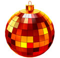Red Christmas ball on white background Royalty Free Stock Photos