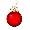 Red christmas ball xmas bauble bulb isolated on white Royalty Free Stock Photos
