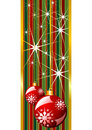 Red christmas banner Stock Images
