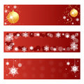 Red Christmas banners Royalty Free Stock Photo