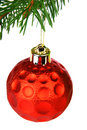 Red Christmas bauble Royalty Free Stock Photography