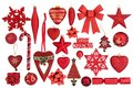 Red Christmas Bauble Decorations Royalty Free Stock Photo