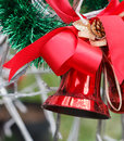 Red christmas bell closeup and details Royalty Free Stock Image
