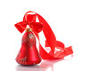 Red christmas bell isolated on white background Royalty Free Stock Images
