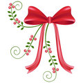 Red christmas bow Stock Image