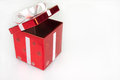 Red Christmas Box Royalty Free Stock Photos