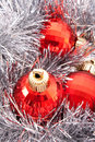 Red Christmas bulbs Royalty Free Stock Photo