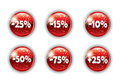 Red christmas button for your website Royalty Free Stock Photo